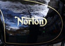 Carro armato del motociclo di Norton immagine stock libera da diritti