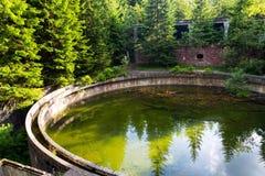 Carro armato di galleggiamento del minerale metallifero alla miniera di latta Rolava Sauersack, repubblica Ceca immagini stock libere da diritti