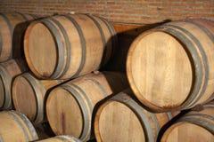 Carro armato di legno del vino Fotografie Stock Libere da Diritti