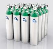 carro armato di ossigeno isolato 3D Fotografia Stock