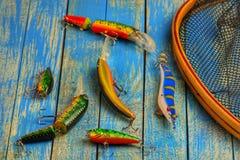 Carro armato di pesce e dei Wobblers Immagine Stock Libera da Diritti