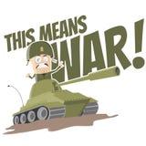Carro armato divertente del fumetto Fotografia Stock Libera da Diritti