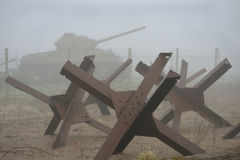 Carro armato e trappole della seconda guerra mondiale Fotografia Stock Libera da Diritti