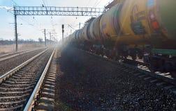 Carro armato ferroviario Fotografie Stock
