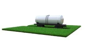 Carro armato ferroviario con combustibile illustrazione di stock