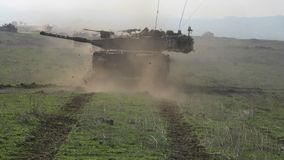 Carro armato in Golan Heights Fotografia Stock Libera da Diritti