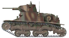 Carro Armato L-6/40. Computer illustration of italian historic ww2 tank Royalty Free Stock Images