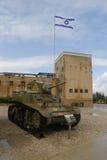 Carro armato leggero americano di M3A1 Stuart su esposizione al museo corazzato del corpo della La-Shiryon di Yad a Latrun fotografia stock