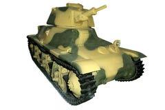 Carro armato leggero giallo verde Immagine Stock Libera da Diritti
