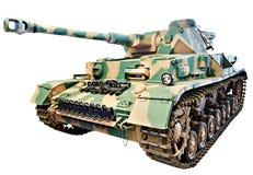 Carro armato medio tedesco PzKpfw IV; Bianco isolato IV di Panzer Fotografie Stock Libere da Diritti