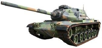 Carro armato militare di guerra dell'esercito isolato Fotografie Stock