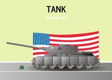 Carro armato militare Illustrazione di vettore Fotografia Stock