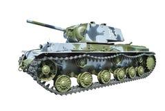 Carro armato pesante sovietico KV-1 dalla seconda guerra mondiale. Fotografia Stock Libera da Diritti
