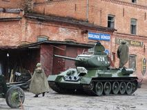 Carro armato sovietico dei periodi della seconda guerra mondiale immagini stock libere da diritti