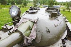 Carro armato sovietico T-54 della torre Fotografie Stock Libere da Diritti