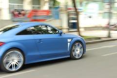 Carro azul Imagem de Stock