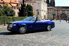 Carro azul Fotografia de Stock Royalty Free