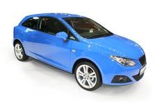Carro azul novo Foto de Stock Royalty Free