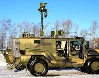 Carro blindado com armamentos imagens de stock royalty free