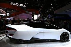 Carro bonde de Acura na feira automóvel imagens de stock royalty free