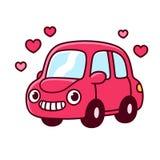Carro bonito dos desenhos animados ilustração royalty free