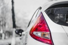 Carro branco Fotos de Stock Royalty Free