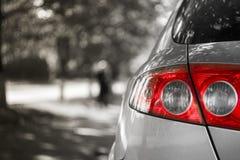 Carro branco Fotografia de Stock