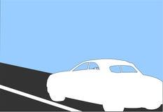 Carro branco ilustração stock