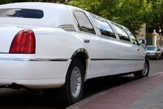 Carro branco da limusina foto de stock