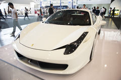 Carro branco de ferrari Imagens de Stock Royalty Free