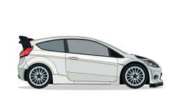 Carro branco do carro com porta traseira Fotos de Stock