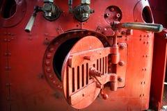 Carro-caldera de la locomotora de vapor Imágenes de archivo libres de regalías