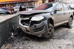 Carro causado um crash foto de stock royalty free