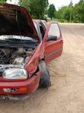 Carro causado um crash 4 Imagens de Stock