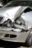 Carro causado um crash Fotografia de Stock