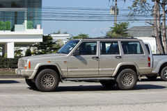 Carro Cherokee privado do jipe 4X4 Fotos de Stock