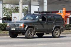 Carro Cherokee privado do jipe 4X4 Imagens de Stock