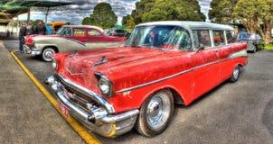 Carro clásico de Chevy del americano de los años 50 Imagen de archivo libre de regalías