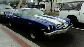 Carro clássico azul Foto de Stock