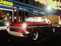 Carro clássico na cidade Imagens de Stock Royalty Free