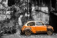 Carro clássico velho do estilo do vintage foto de stock