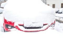Carro coberto com a neve Foto de Stock
