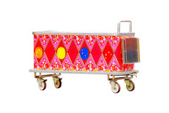 Carro colorido del helado aislado en el fondo blanco Fotos de archivo libres de regalías