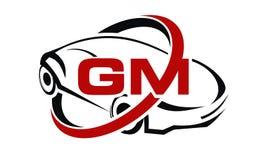 Carro com letra do GM ilustração stock