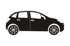 Carro com porta traseira do carro do ícone Fotos de Stock