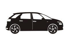 Carro com porta traseira do carro do ícone Imagens de Stock