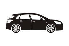 Carro com porta traseira do carro do ícone Foto de Stock Royalty Free
