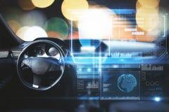 Carro com tela digital imagem de stock