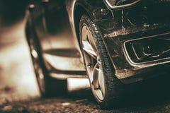 Carro com toda a movimentação da roda imagens de stock royalty free