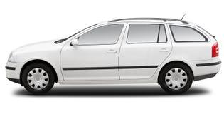 Carro comercial branco do combi Fotografia de Stock
